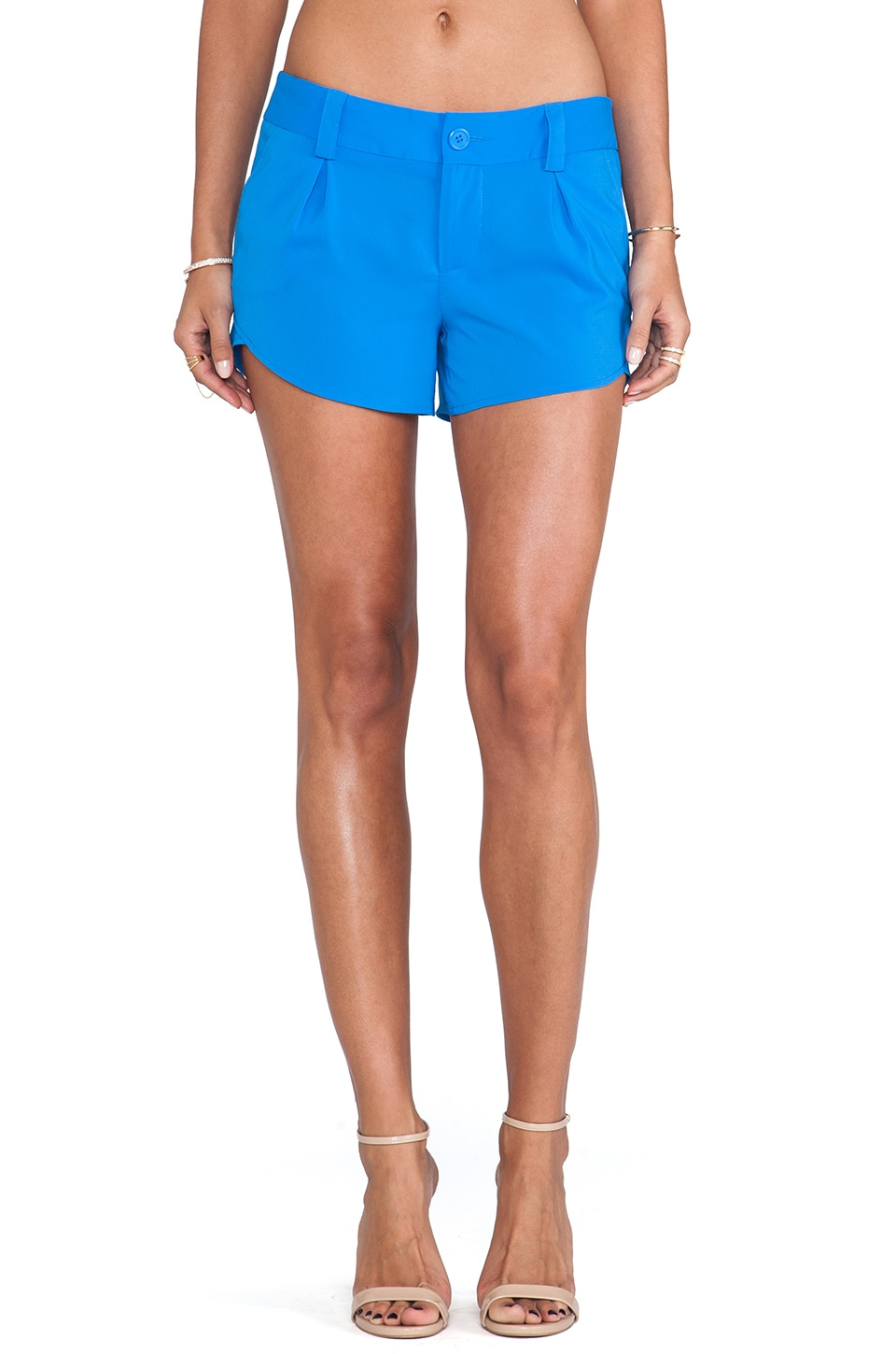 Alice + Olivia Butterfly Shorts in Marina