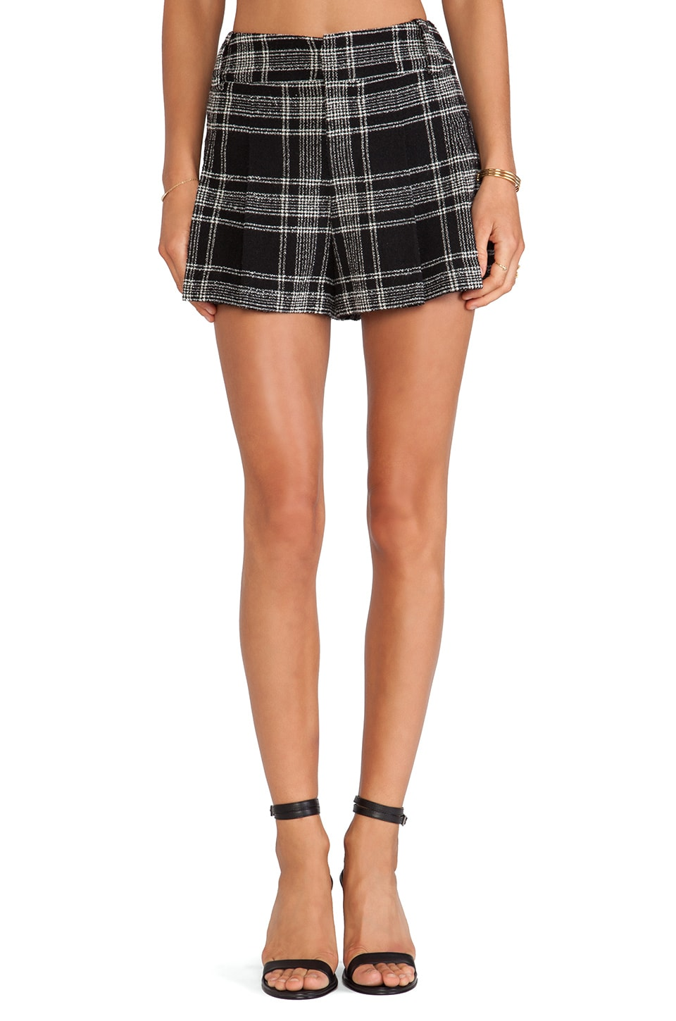 Alice + Olivia High Waist Short in Black & White