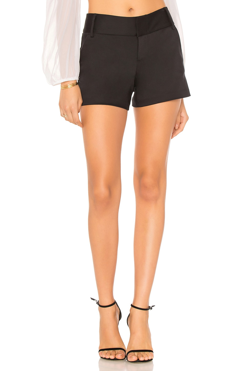 Alice + Olivia Cady Short en Black