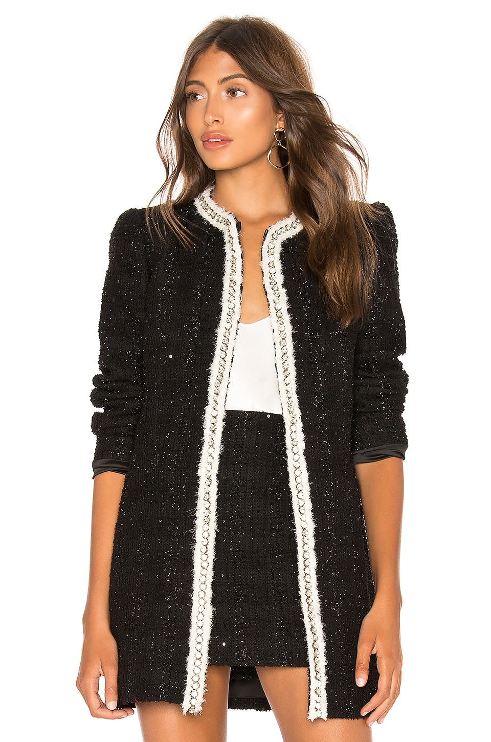 Alice + Olivia Andreas Midnight Jacket in A002