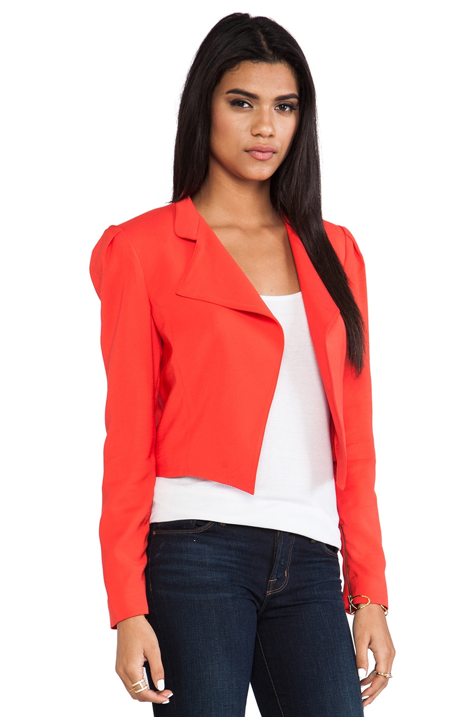 Alice + Olivia Morris Blazer in Red