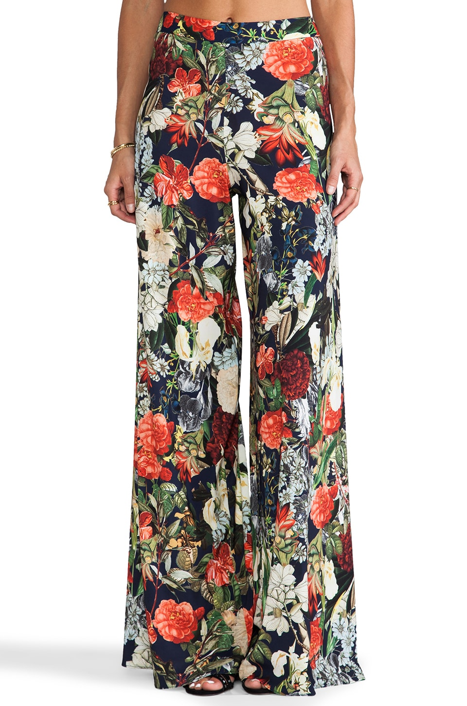 Alice + Olivia Super Flared Wide Leg Pant in Vintage Bouquet