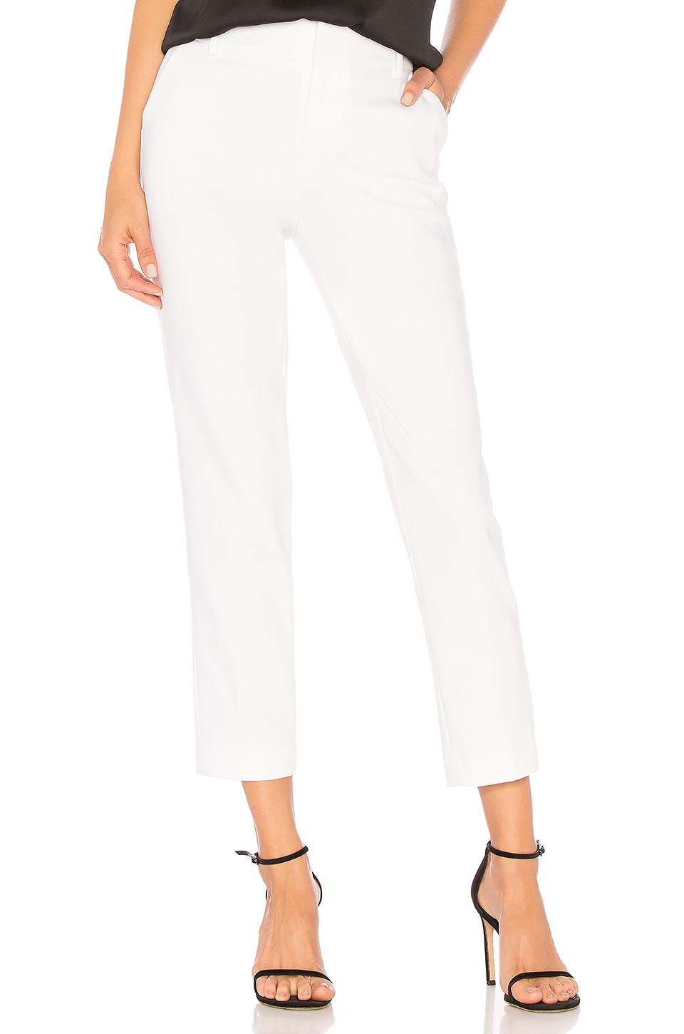 Alice + Olivia Stacey Slim Trouser in White