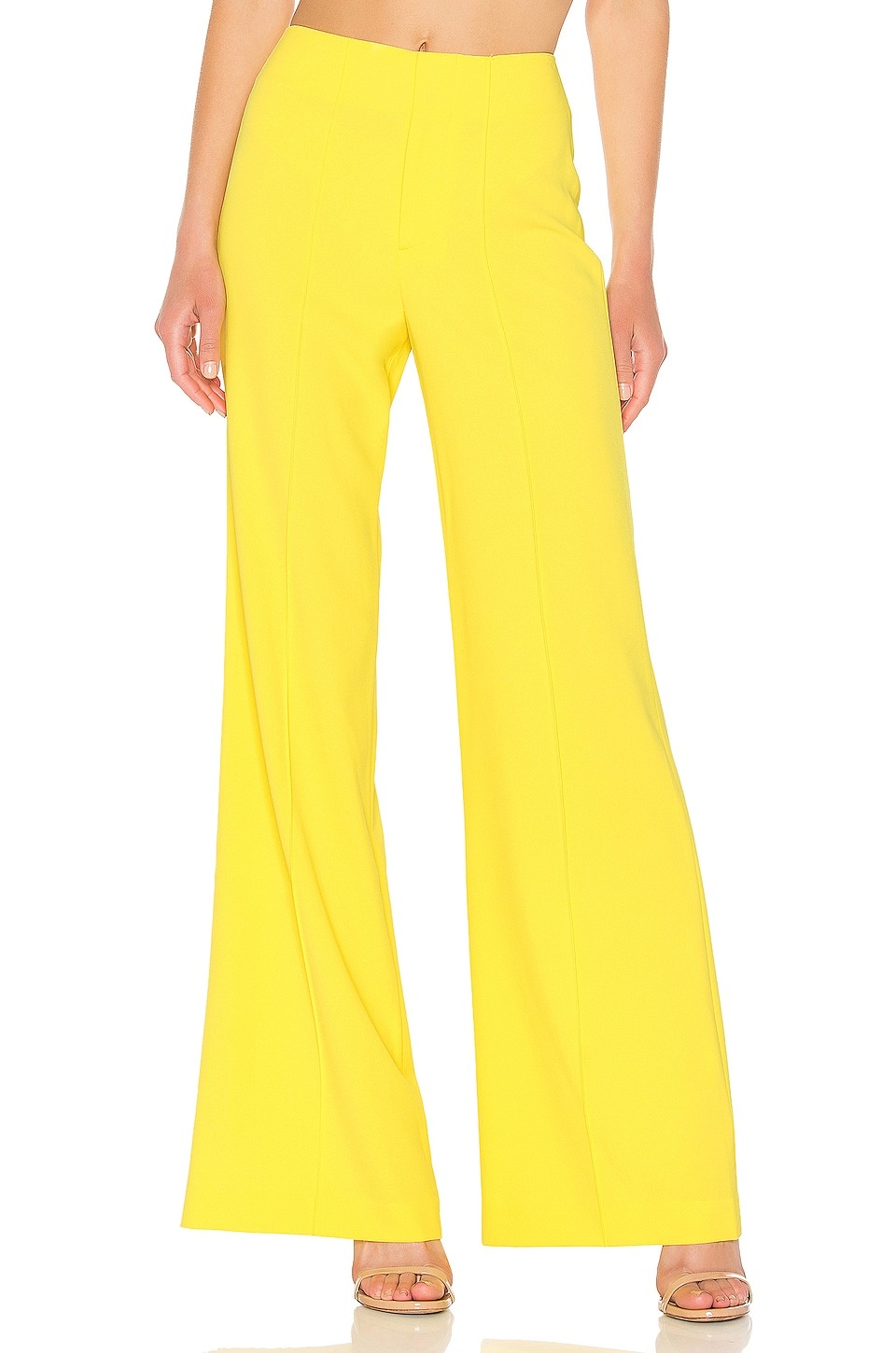 Alice + Olivia Dylan Wide Leg Pant in Sun