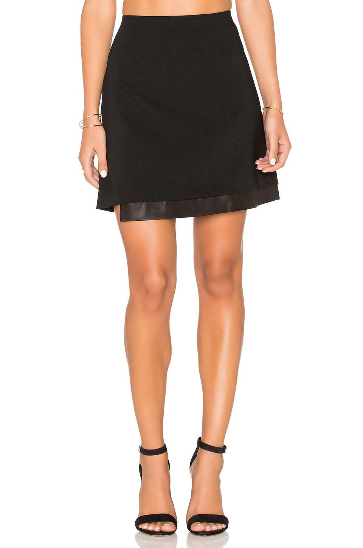 Alice + Olivia Darcie Skirt in Black