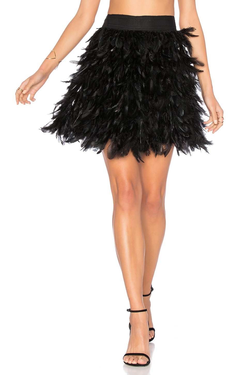 Cina Feather Mini Skirt by Alice + Olivia