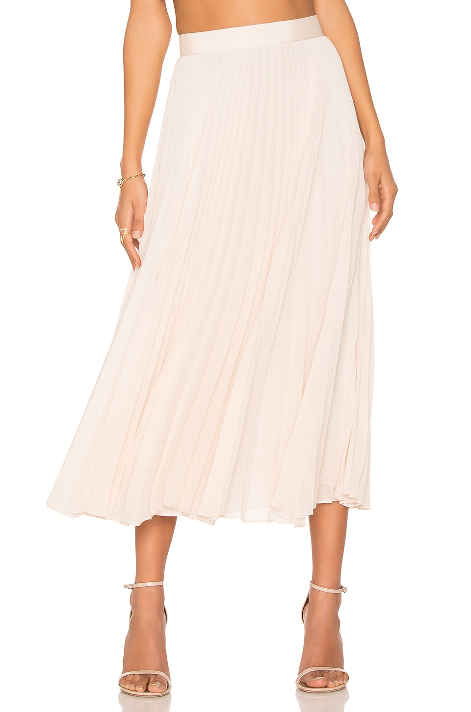 Alice + Olivia Essie Skirt in Champagne