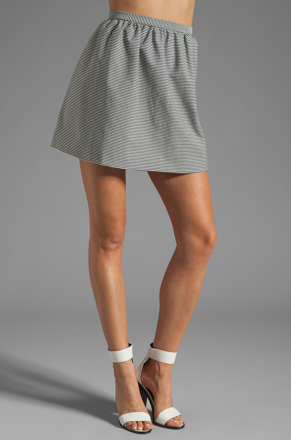 Alice + Olivia Francys Short Skirt in Black/White