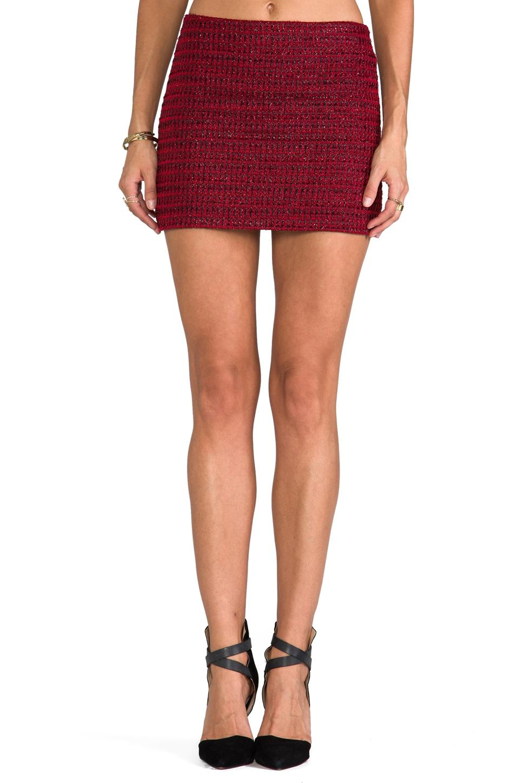 Alice + Olivia Elana Mini Skirt in Red