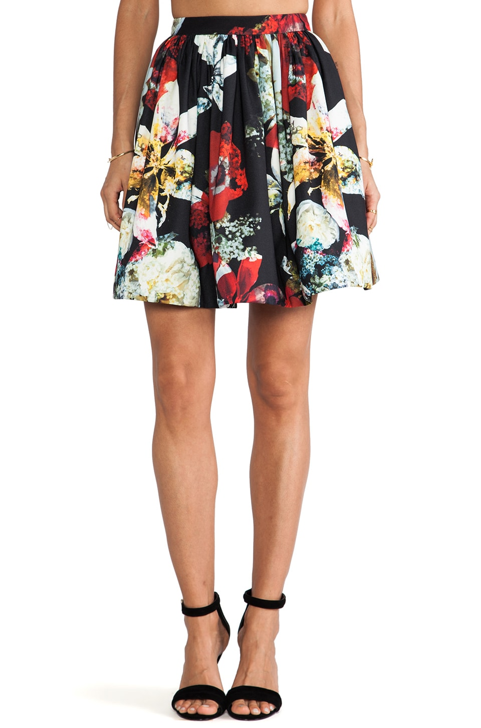 Alice + Olivia Pia Poof Skirt in Blossom Montage