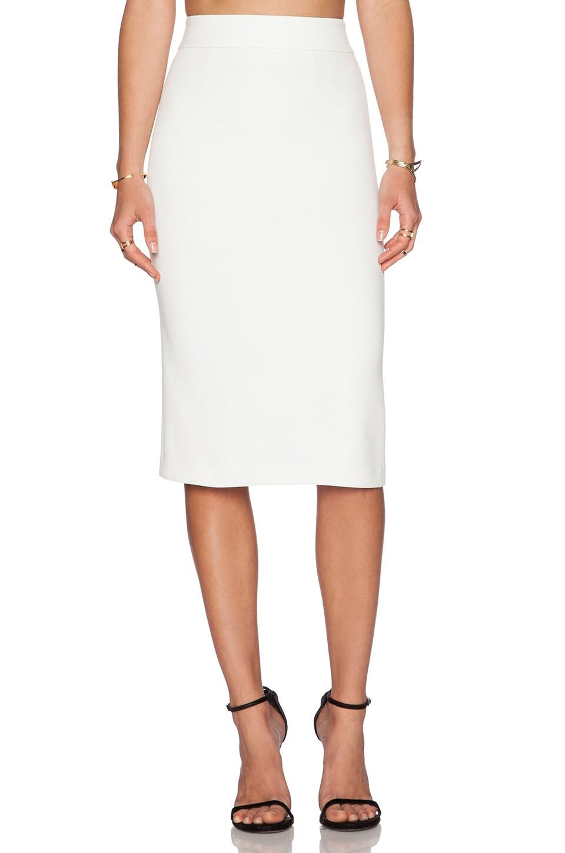 Alice + Olivia Bobbi Pencil Skirt in Off White