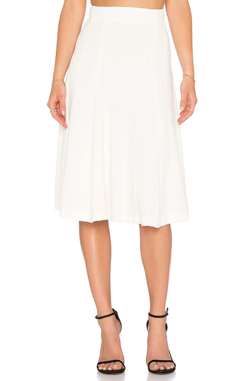 Alice + Olivia Kimi Fit & Flare Skirt in Cream