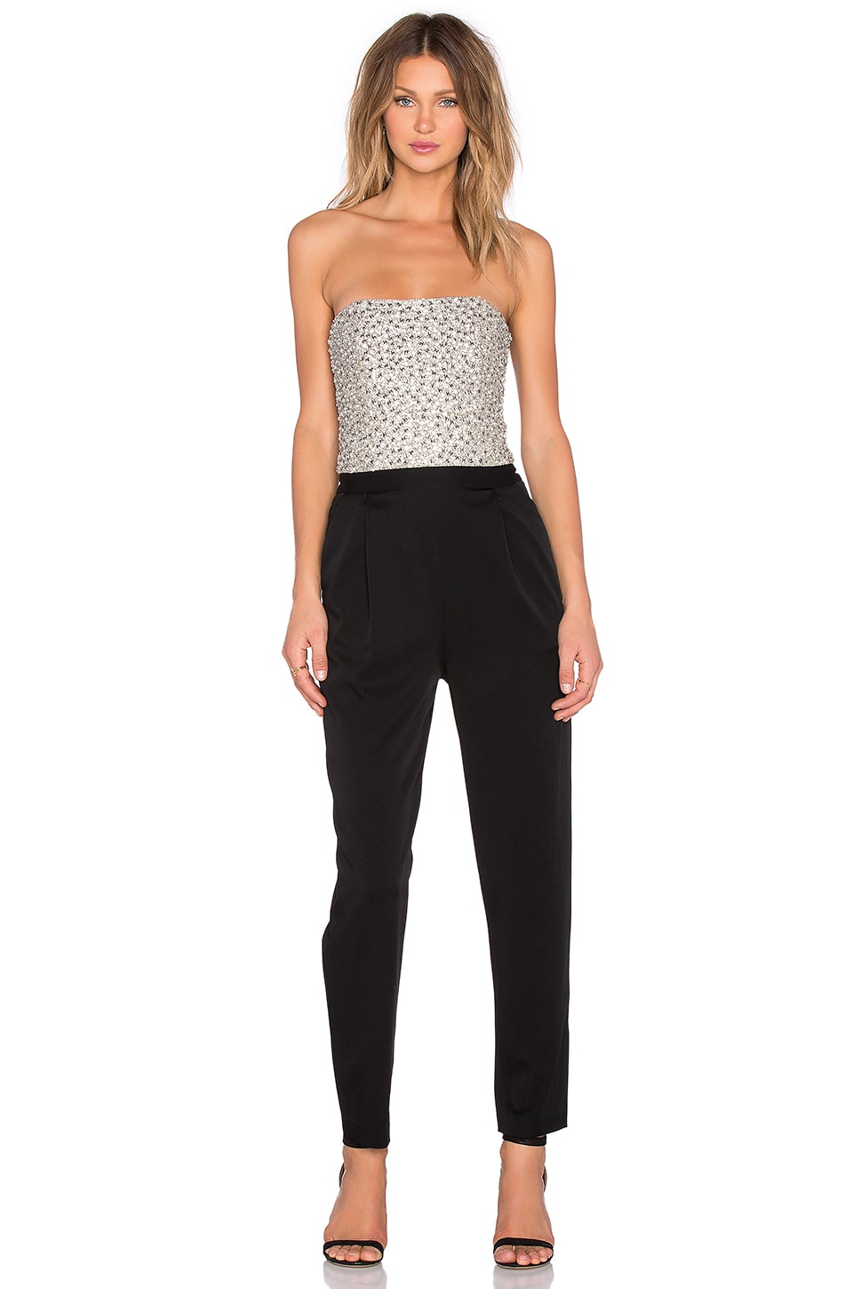Alice + Olivia Jeri Jumpsuit in Black & Cream