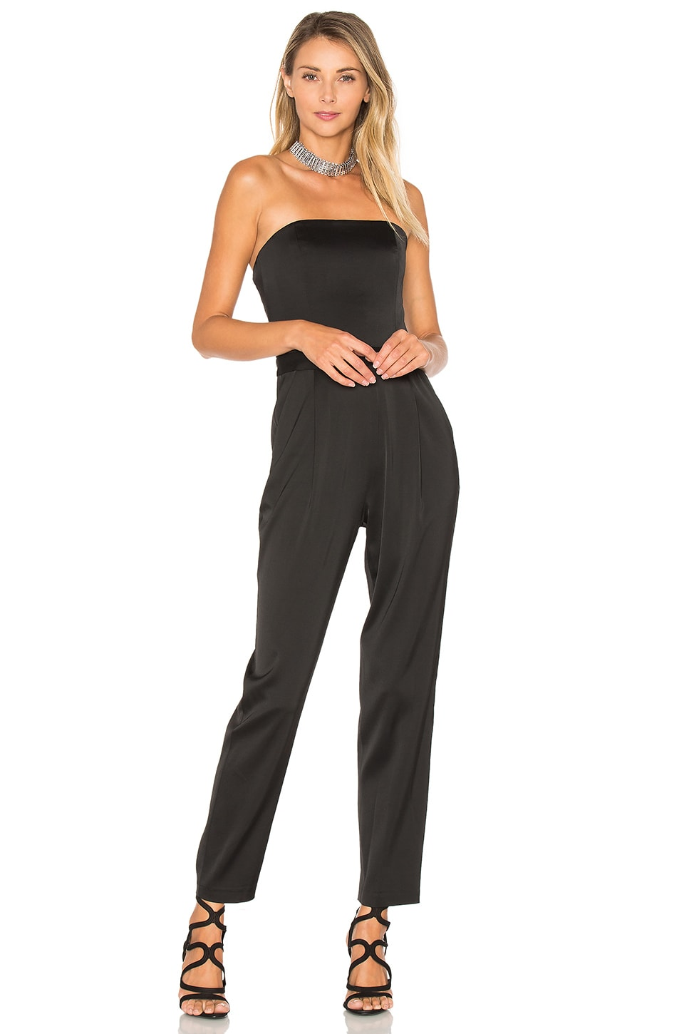 Alice + Olivia Jeri Jumpsuit in Black