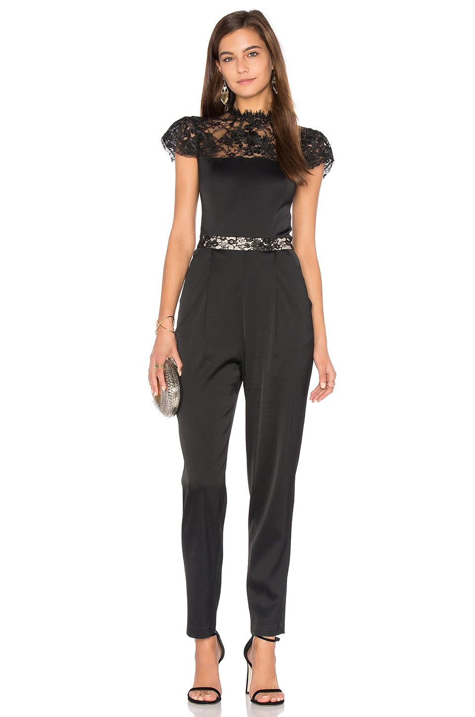 Alice + Olivia Rosalia Jumpsuit in Black