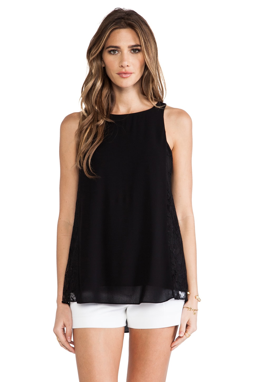 Alice + Olivia Lindsay Tank in Black