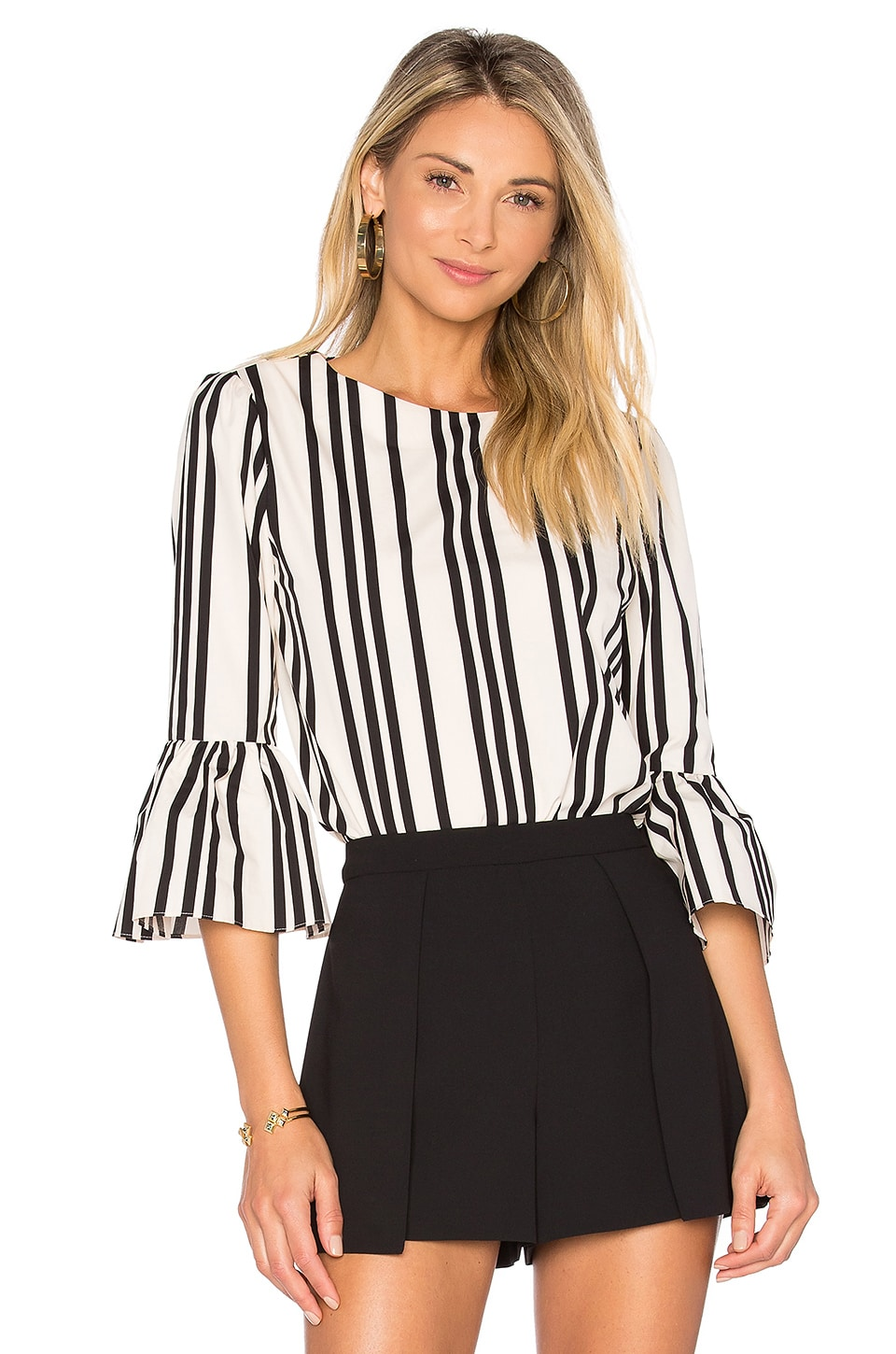 Alice + Olivia Bernice Top in Variegated Stripe