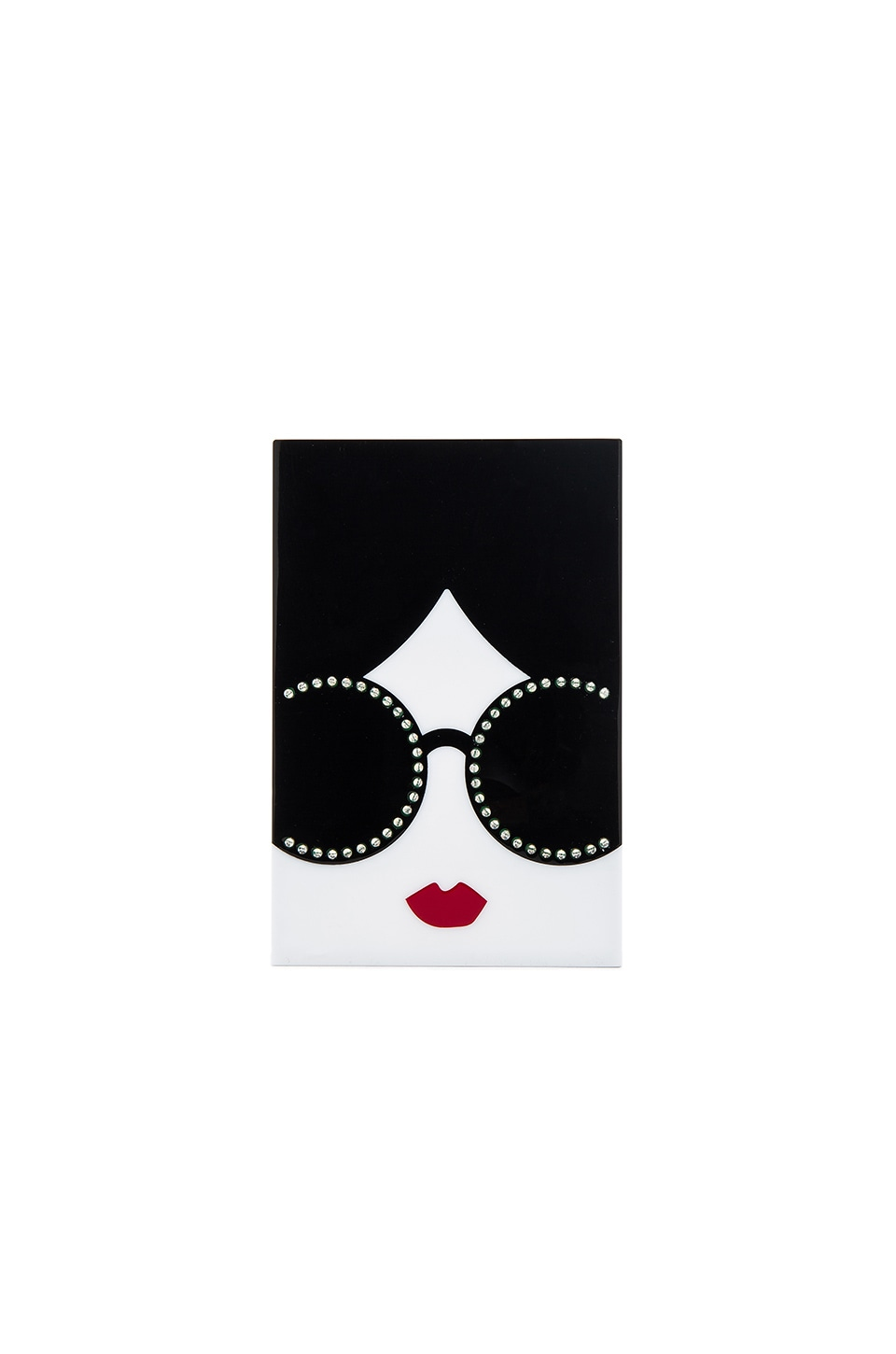 Alice + Olivia Light Up Stace Face Clutch in Multi