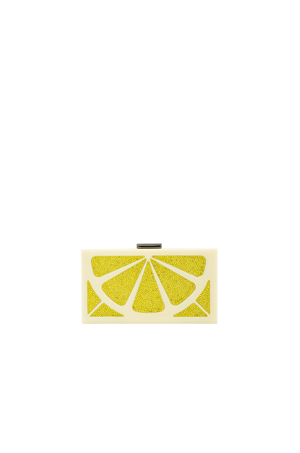Alice + Olivia Cindy Lemon Clutch in Yellow