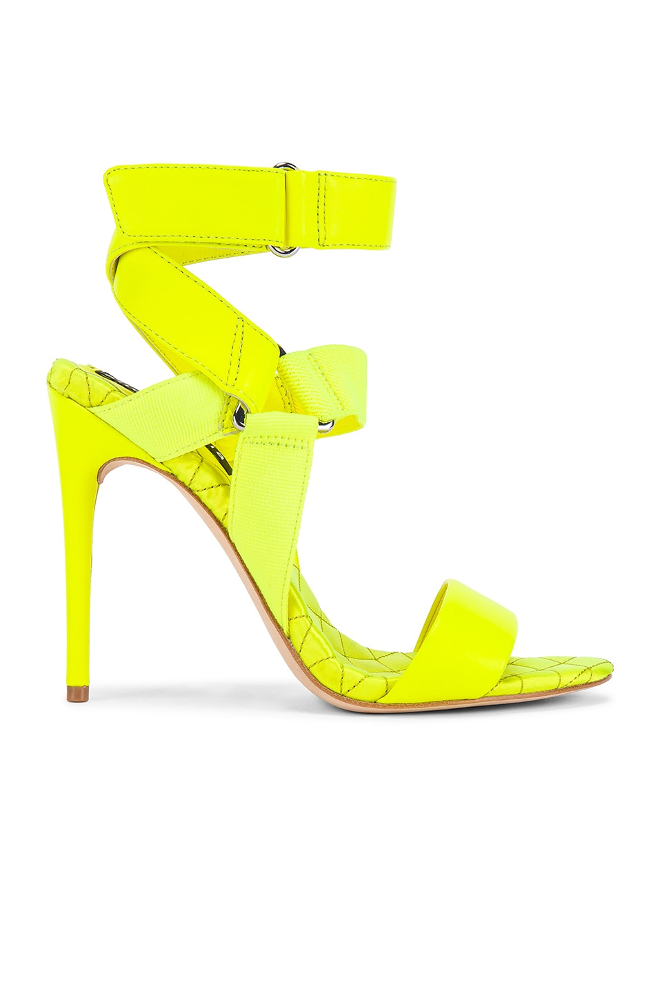 Alice + Olivia Talene Heel in Neon Yellow