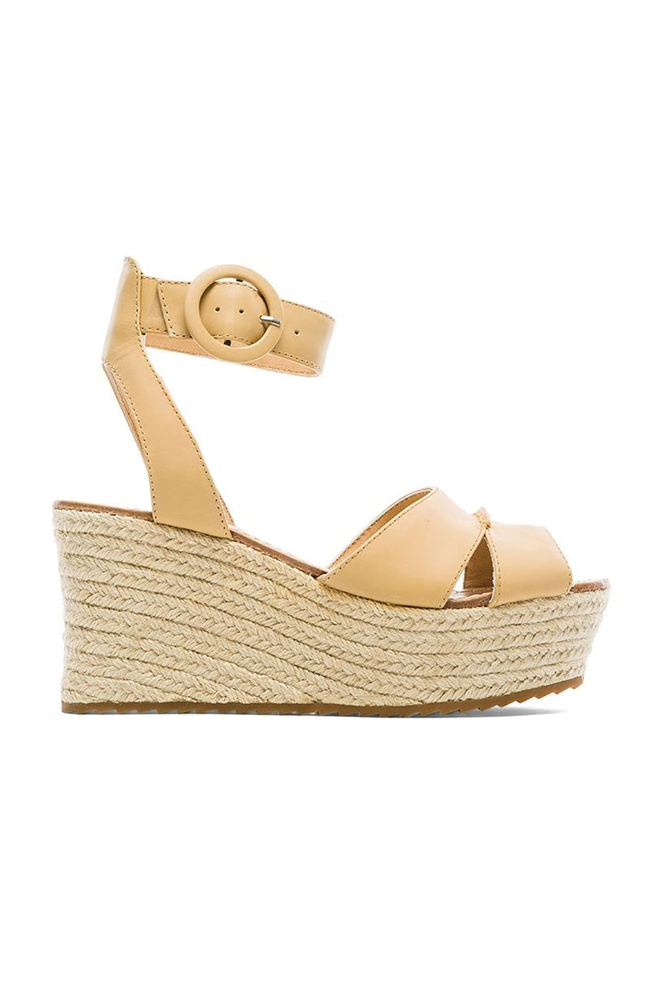 Alice + Olivia Roberta Vachetta Wedge in Tan