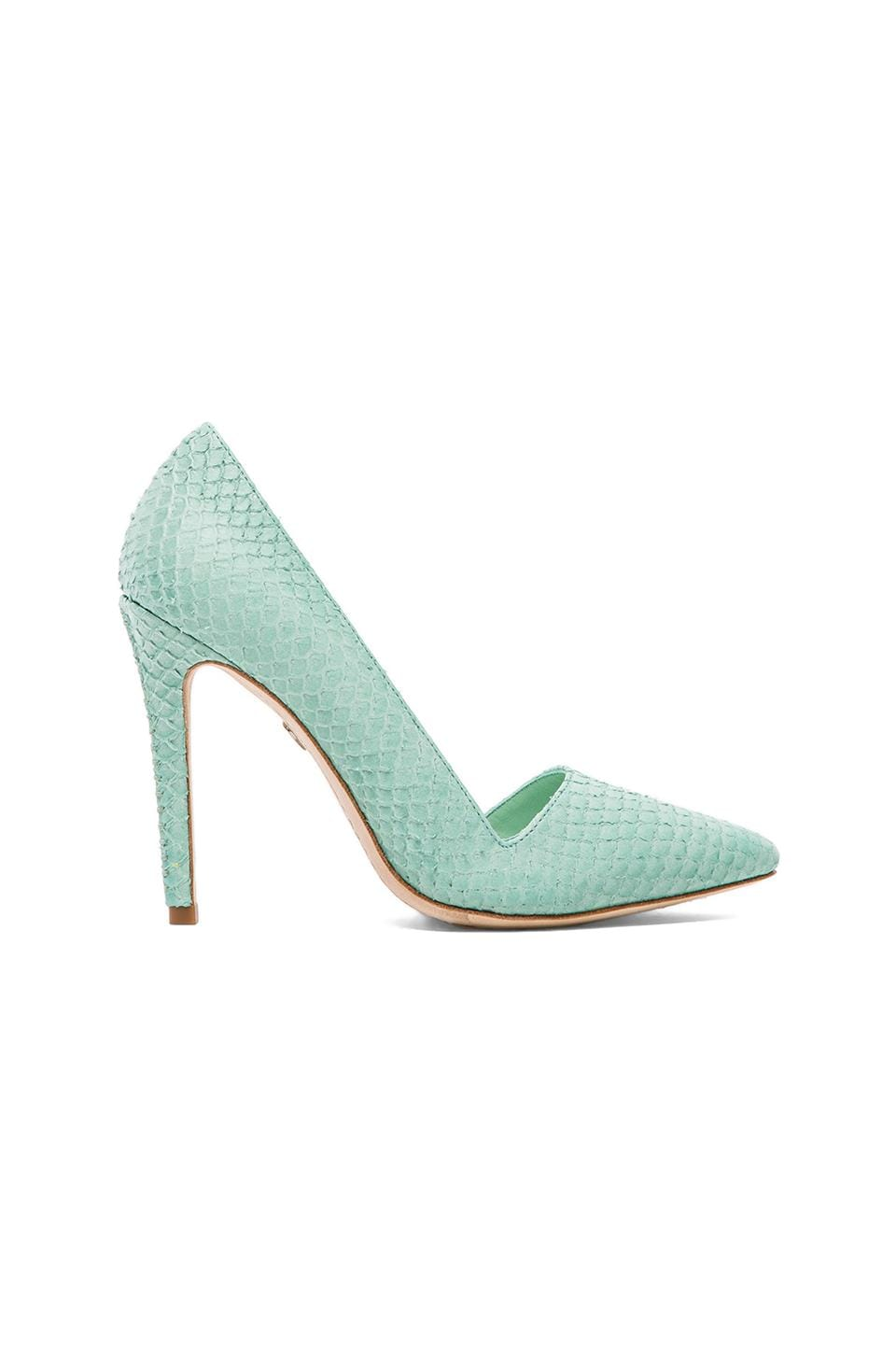 Alice + Olivia Dina Pump in Aqua