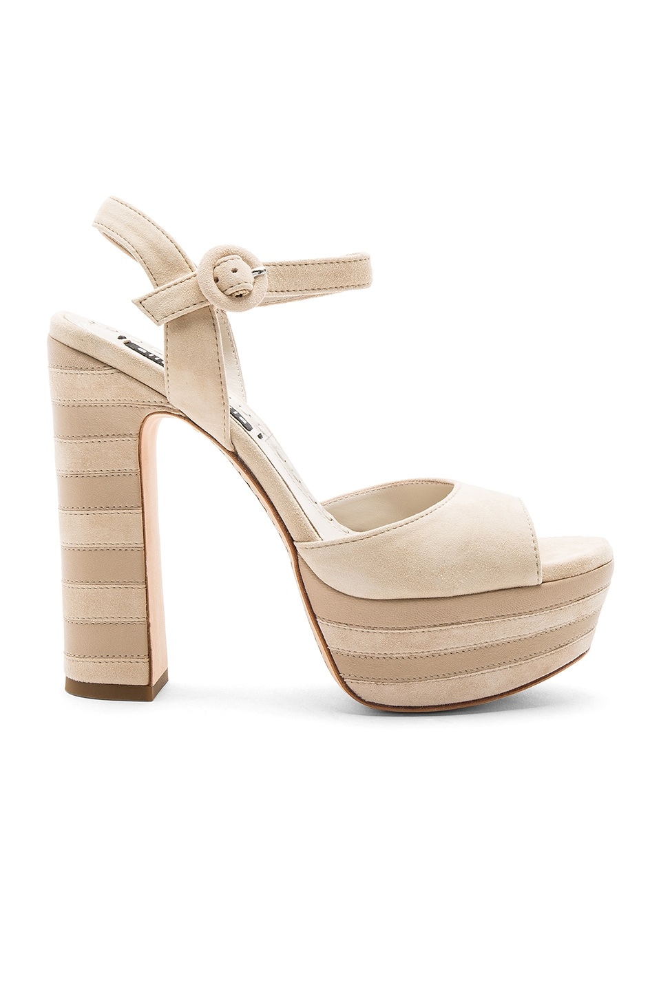 Alice + Olivia Liberty Platform in Light Tan