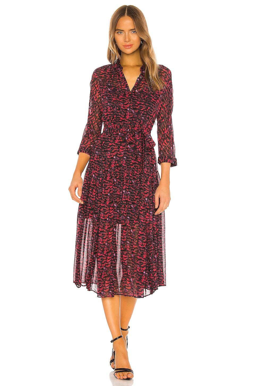 ALLSAINTS Eley Plume Dress in Pink