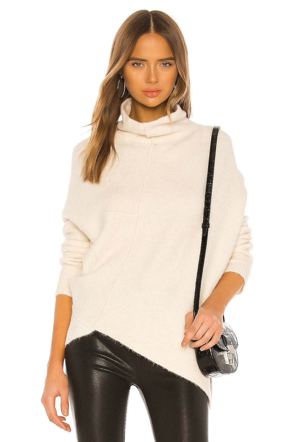 ALLSAINTS Lock Roll Neck in Alabaster White