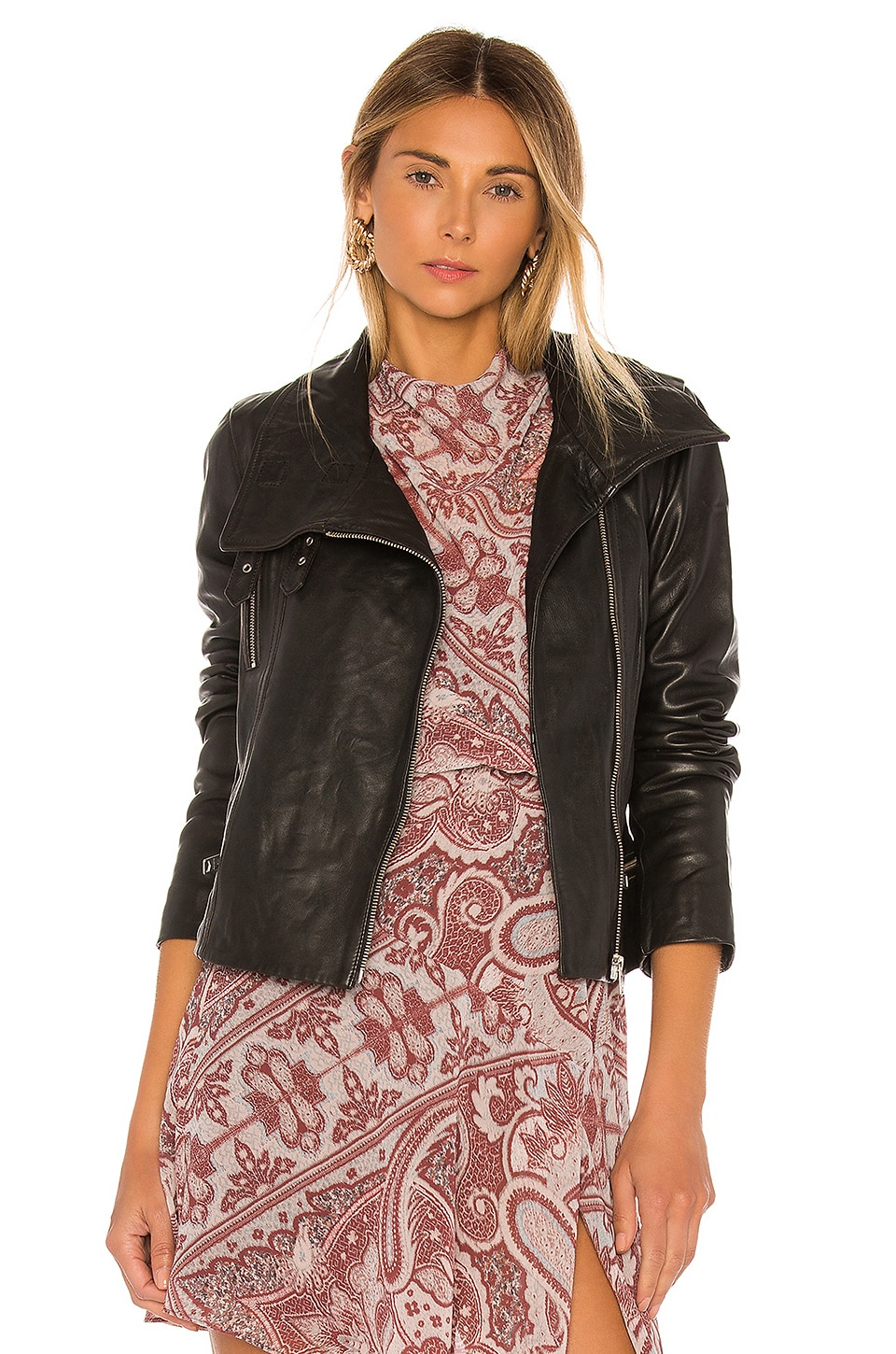 ALLSAINTS Bales Biker Jacket in Black