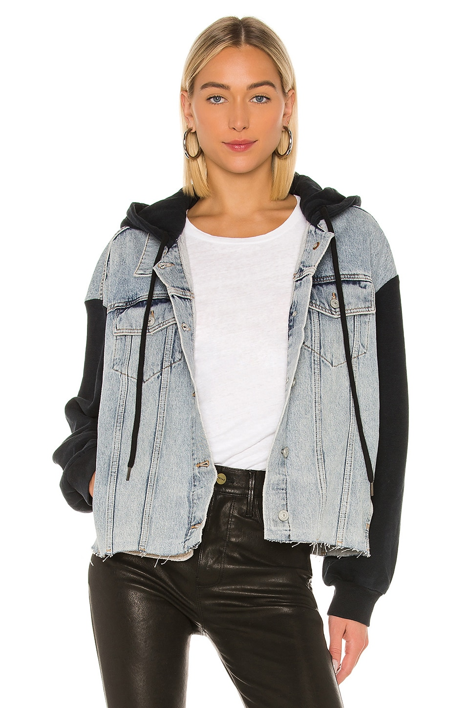 ALLSAINTS Milena Hooded Jacket in Indigo Blue