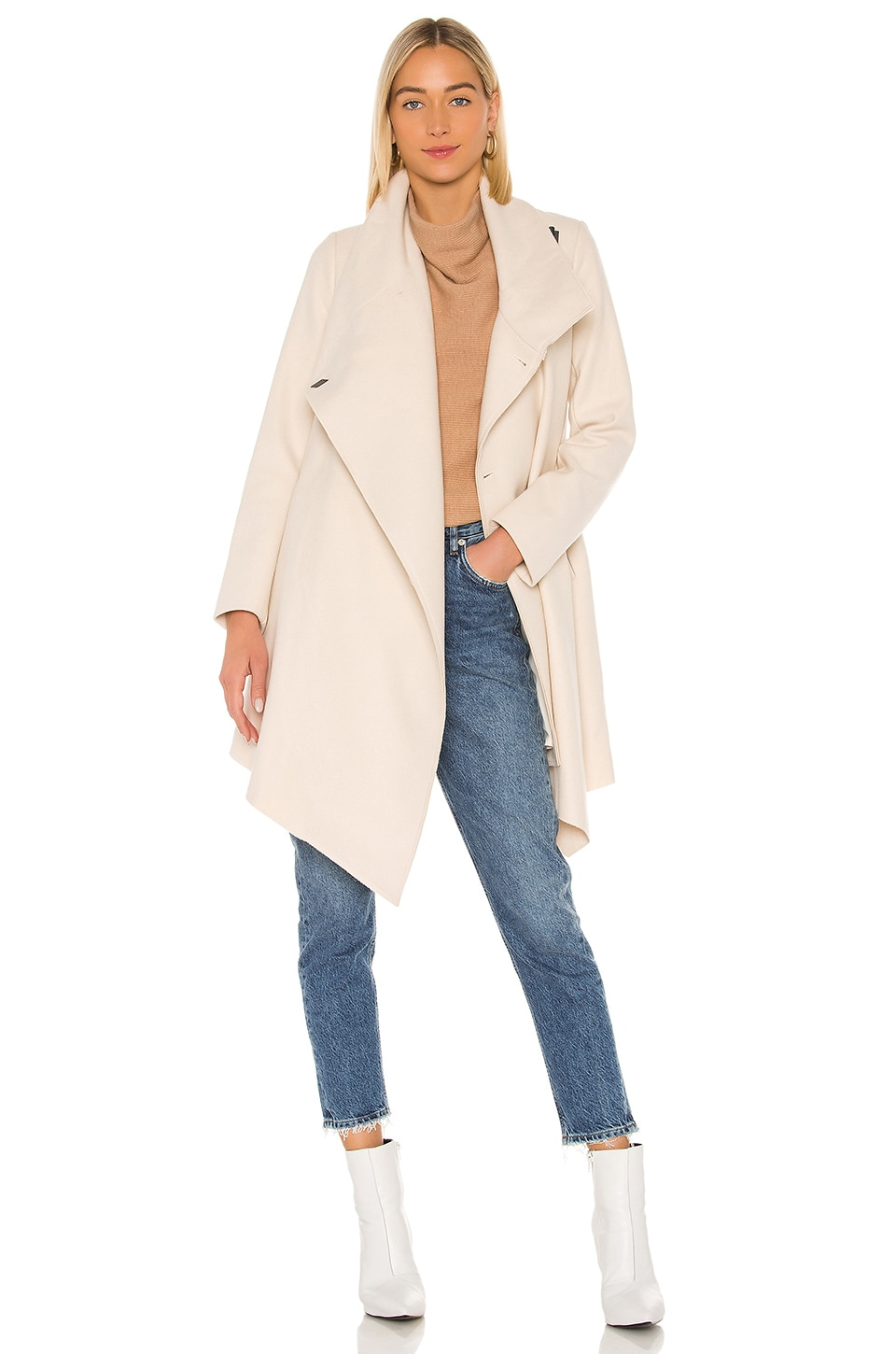 ALLSAINTS City Monument Coat in Oyster White