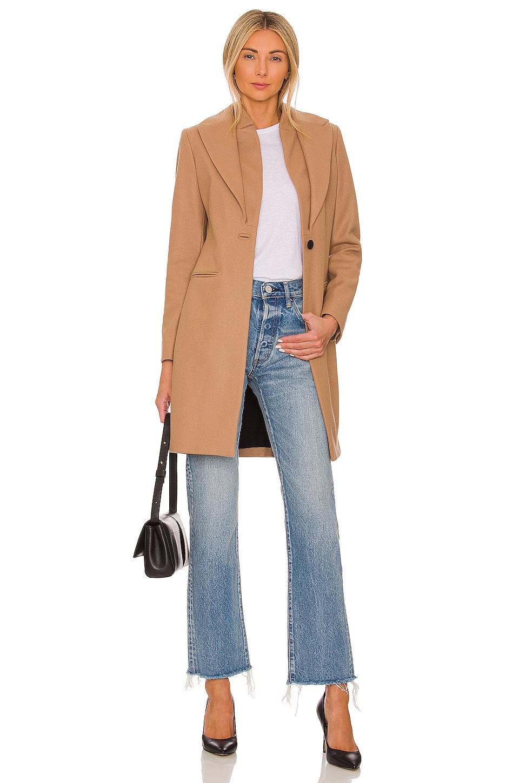 ALLSAINTS Leni Coat in Camel Brown