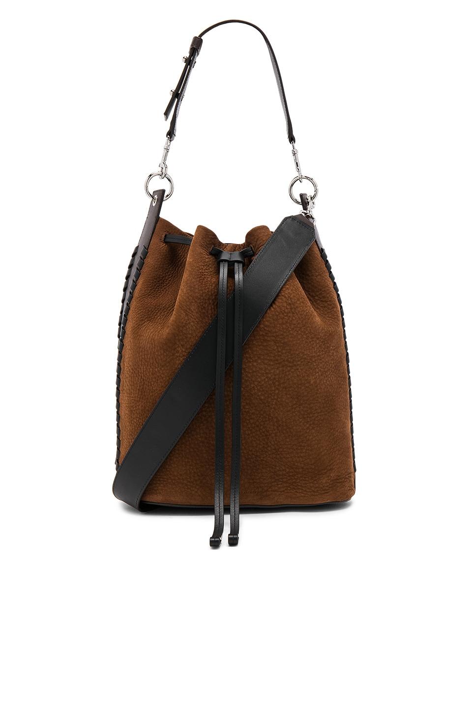 ALLSAINTS Brown Ray Bucket Bag