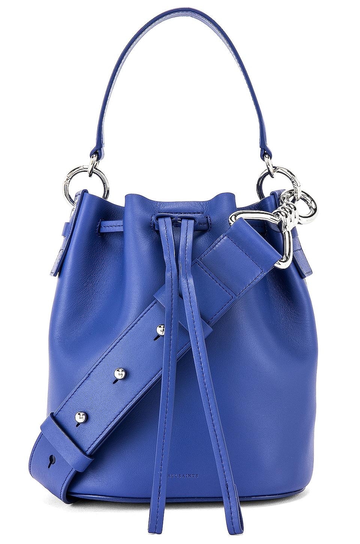 ALLSAINTS Captain SM Bucket Bag in Cobalt Blue