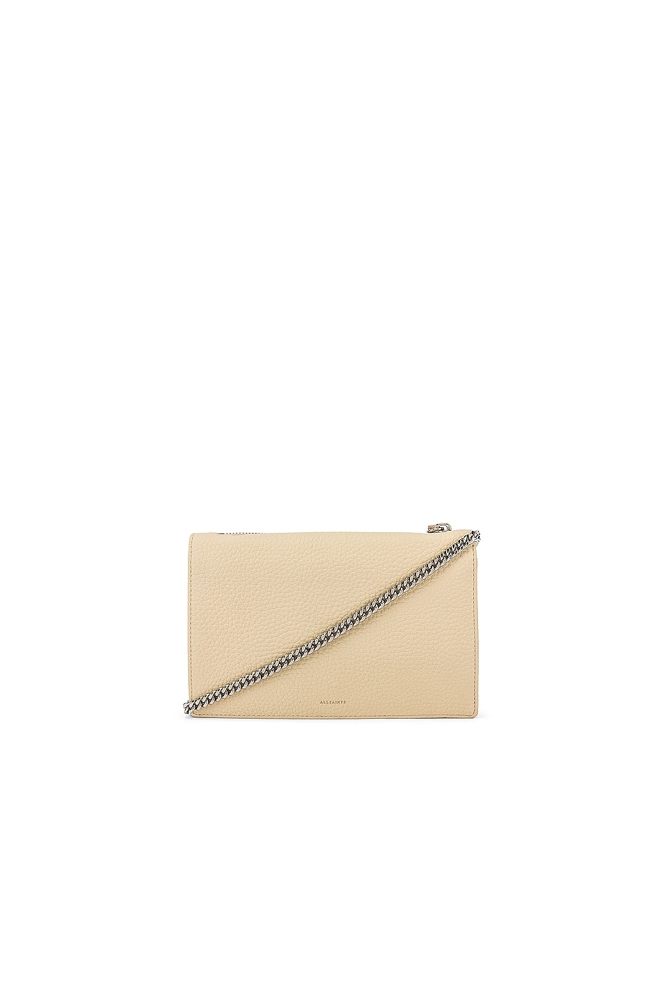 ALLSAINTS Fetch Chain Wallet Crossbody in Sand Beige & Sugar Beige