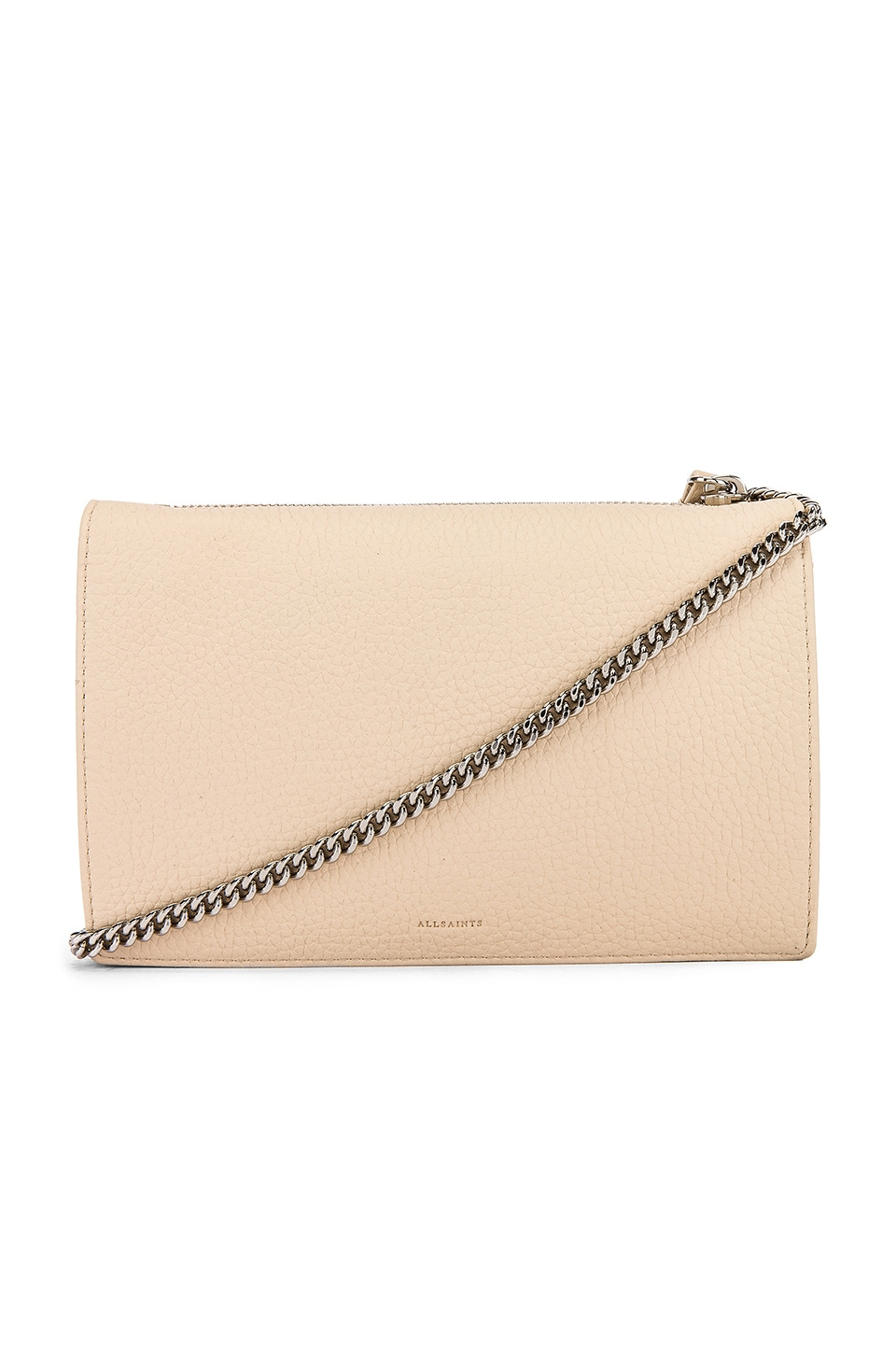 ALLSAINTS Fetch Chain Wallet Crossbody in Dove