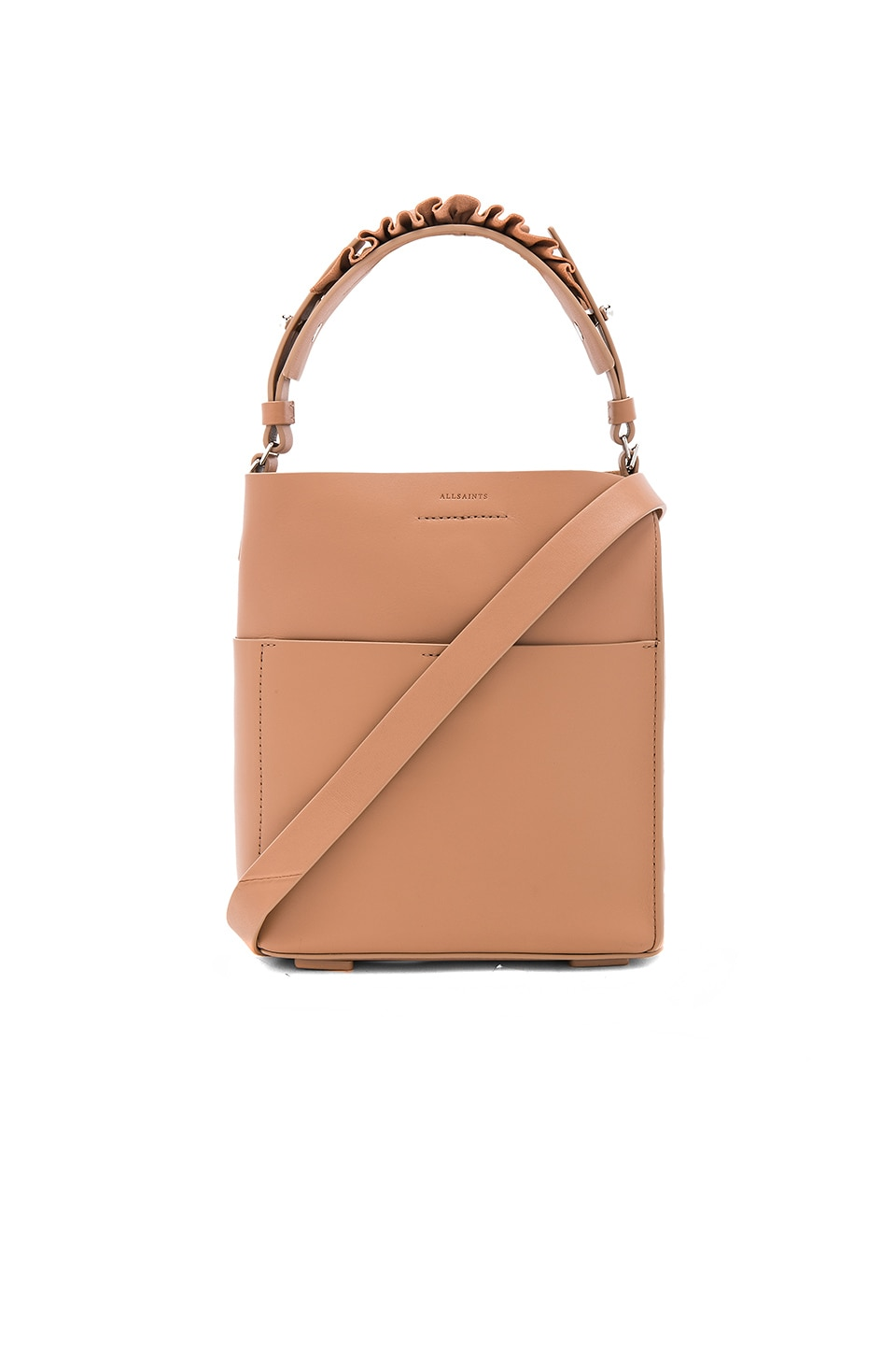 ALLSAINTS Maya Mini Tote in Light Caramel