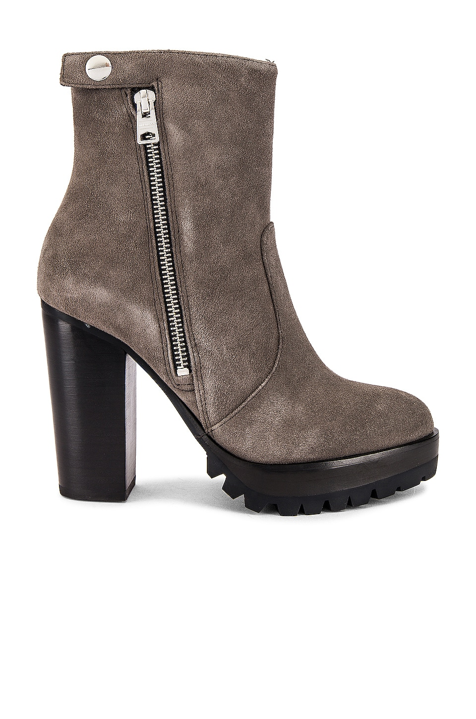 ALLSAINTS Ana Bootie in Charcoal Grey Suede
