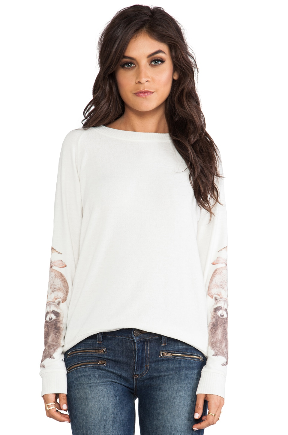 All Things Fabulous 3 Amigos Cozy Sweatshirt in Stone