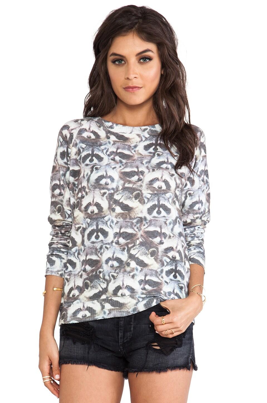 All Things Fabulous Raccoon Cozy Sweatshirt in Raccoon