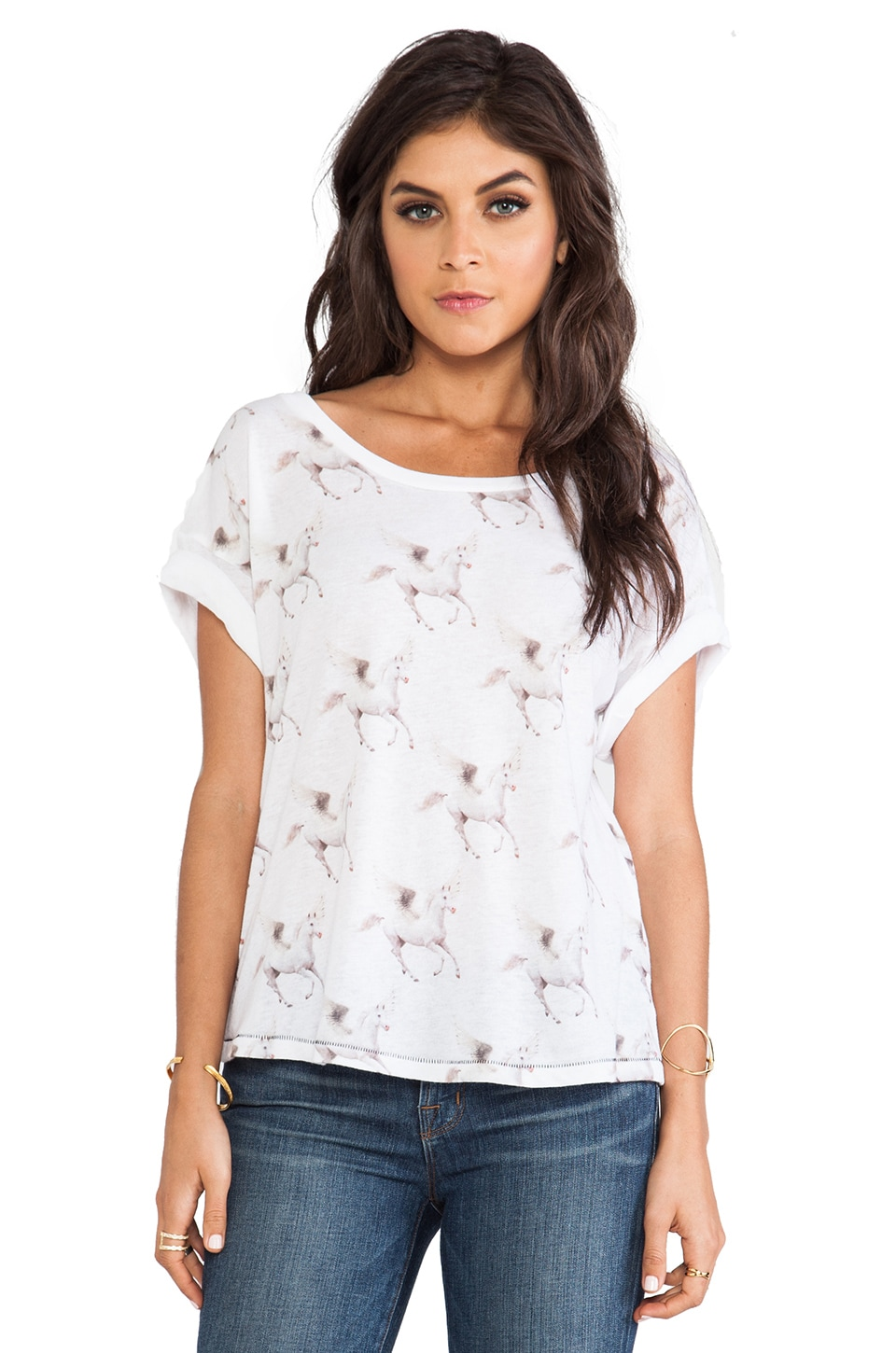 All Things Fabulous Pegasus Tee in White