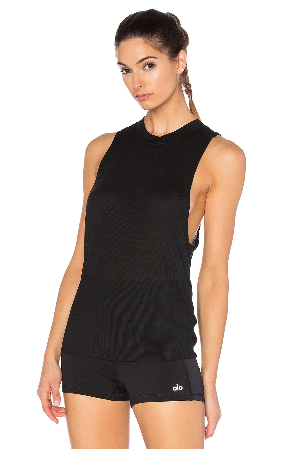 alo Heat Wave Tank in Black