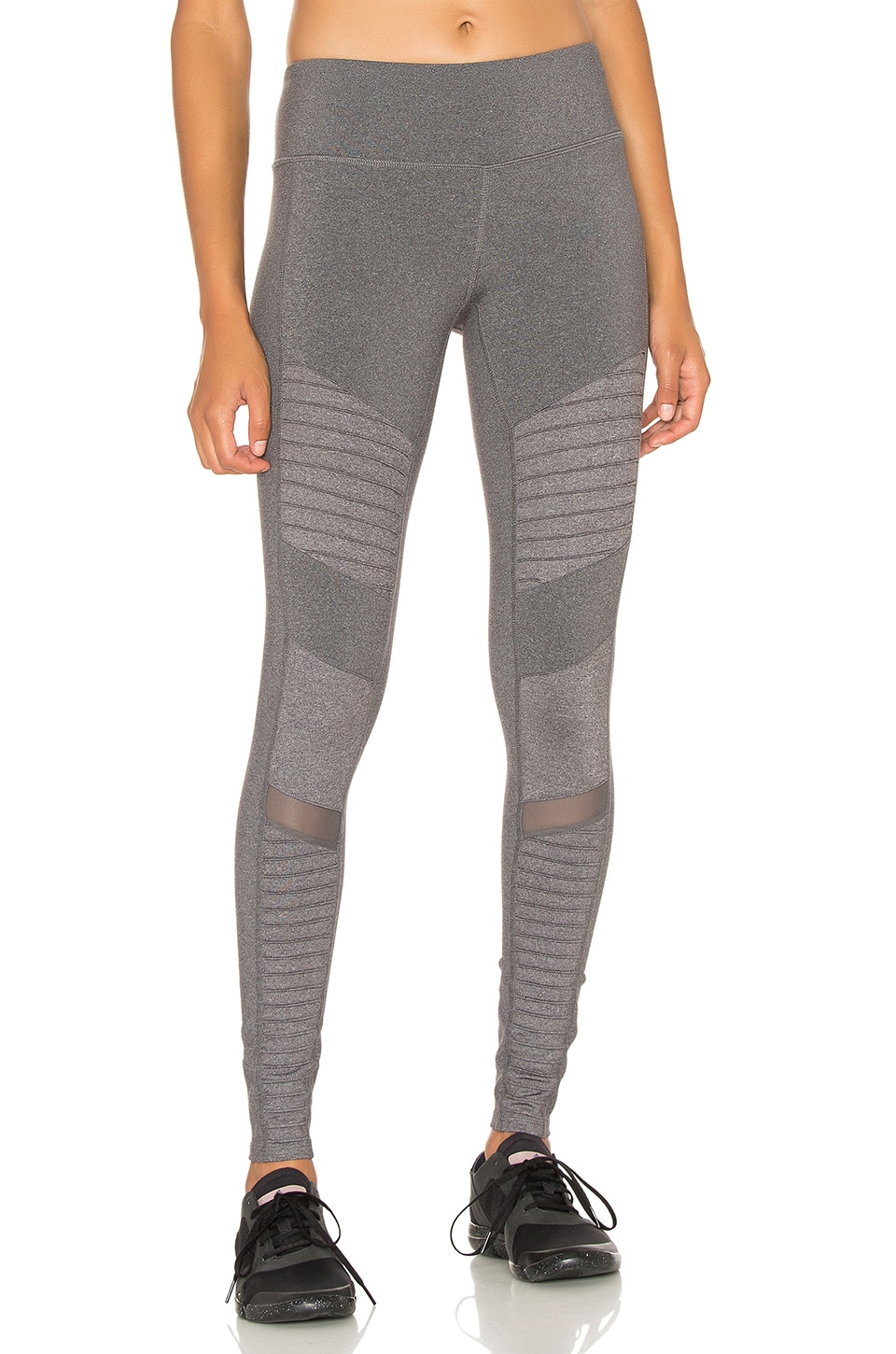 alo Moto Legging in Stormy Heather Glossy