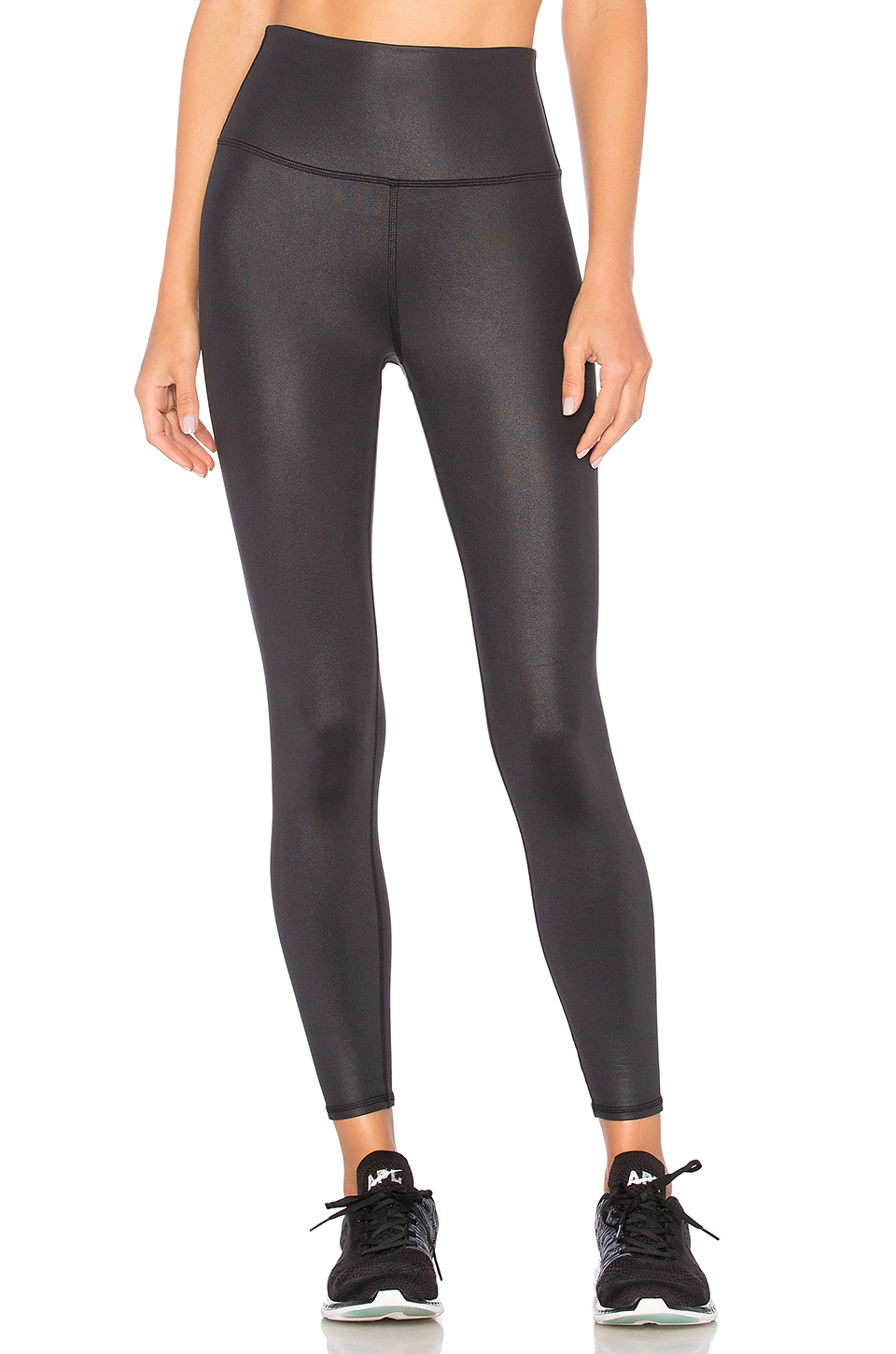 ALO YOGA Airbrush Printed High-Waisted Sport Leggings, Black Houndstooth