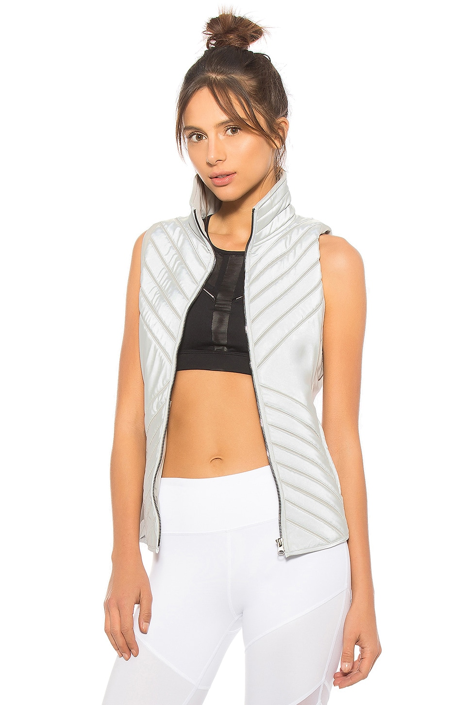 Reflective Puffer Vest by alo