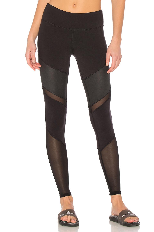 alo Sheila Legging in in Black/Black Glossy/Black