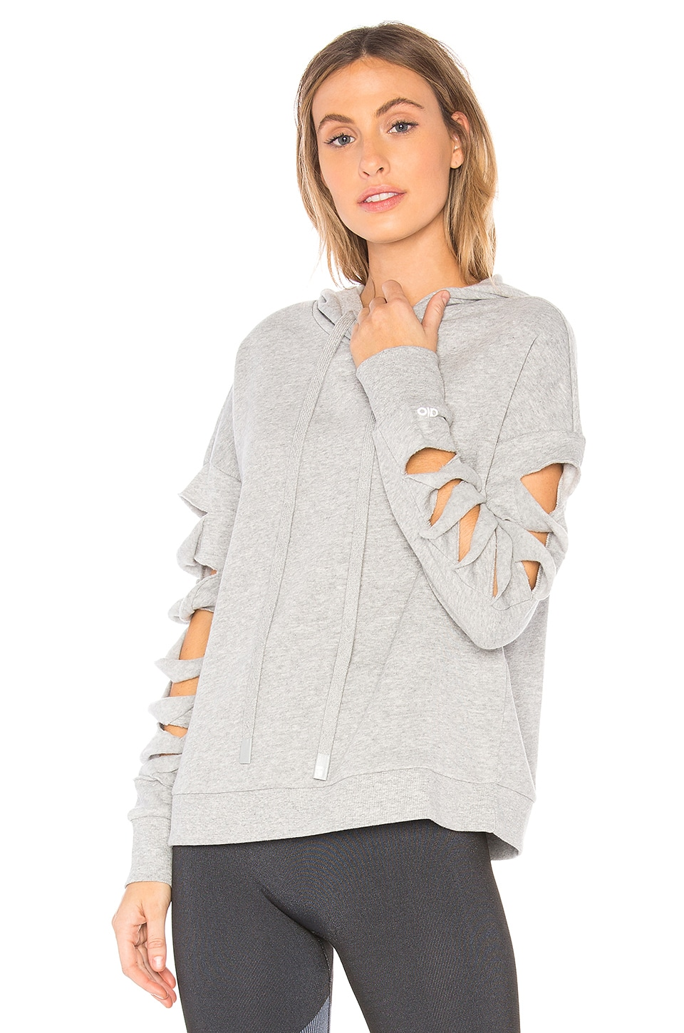 alo Slay Hoodie in Dove Grey Heather