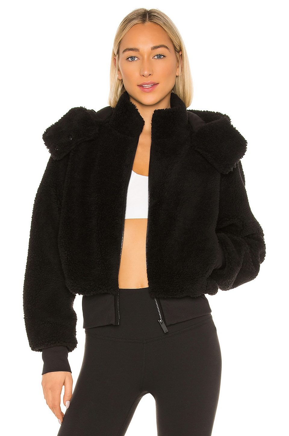 alo Foxy Sherpa Jacket in Black