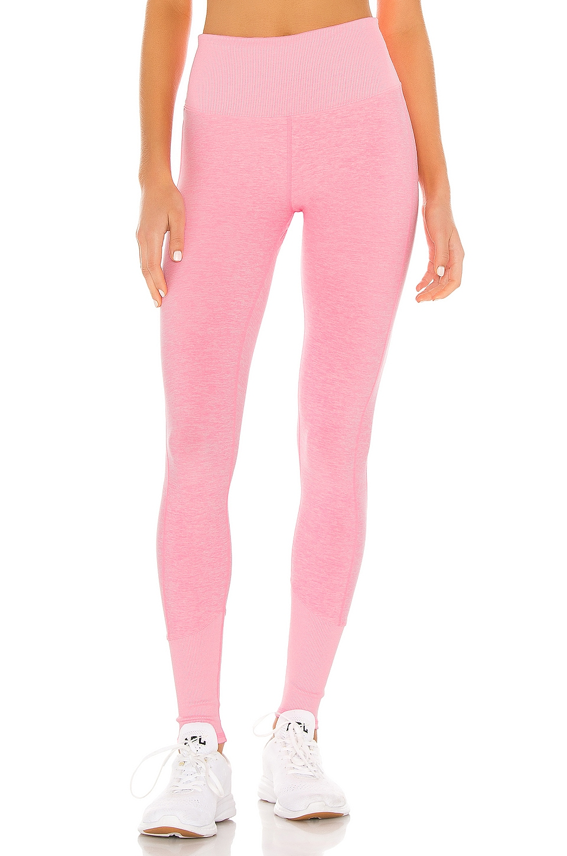 alo High Waist Lounge Legging in Macaron Pink Heather